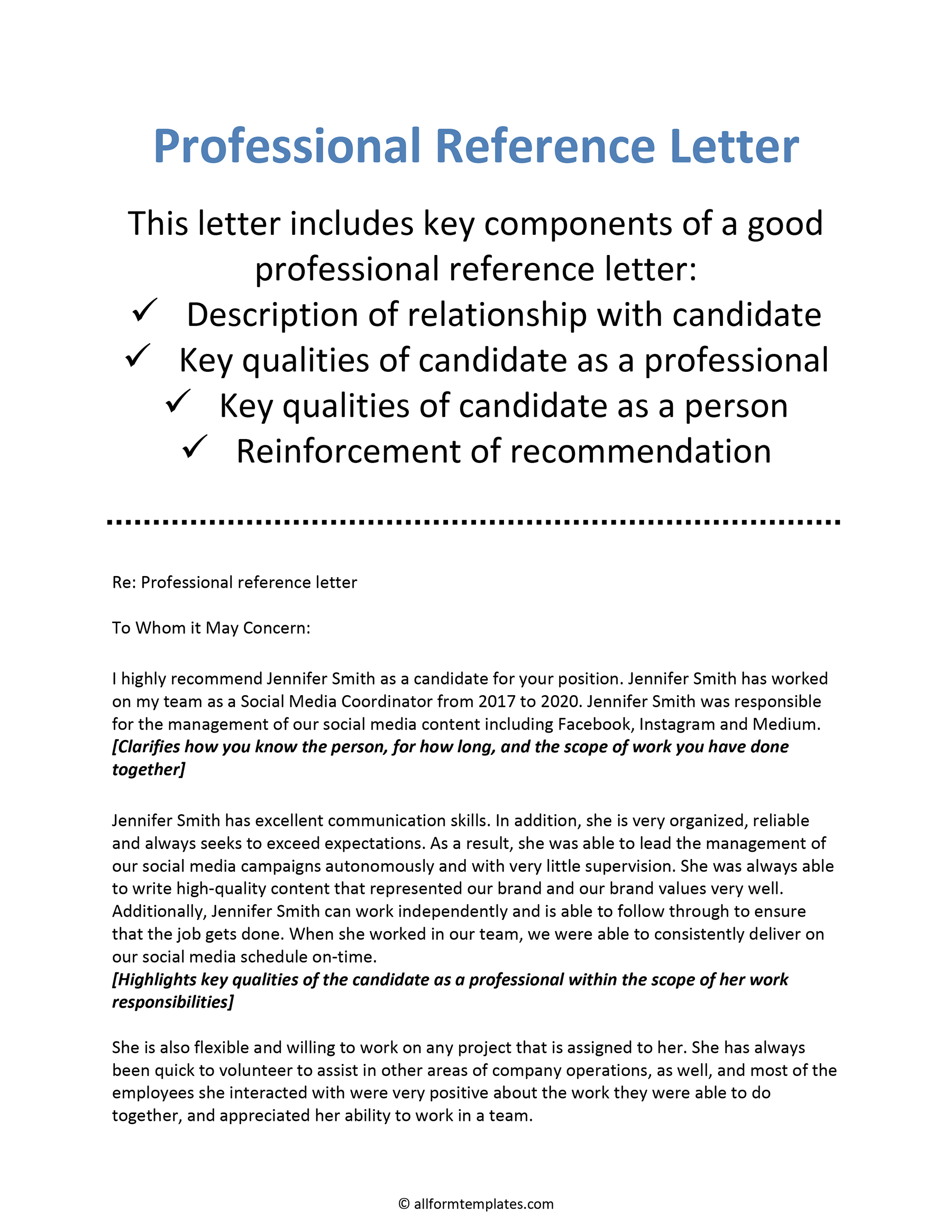 Work Reference Letter Sample from www.allformtemplates.com