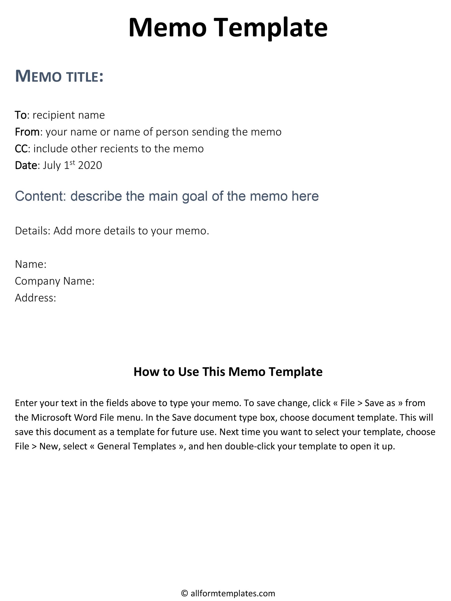 Business memo format,sample memo,templates